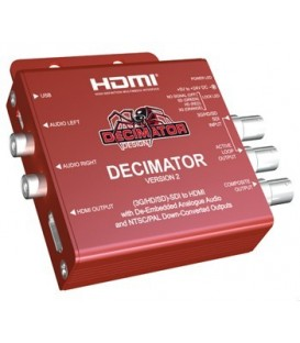 Decimator DD-DEC-2 - DECIMATOR 2: 3G/HD/SD-SDI to HDMI with De-Embedded Analogue Audio