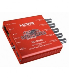 Decimator DD-MD-QUAD - MD-QUAD: 3G/HD/SD-SDI Quad Split - 3G/HD/SD-SDI + HDMI Outputs