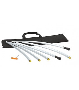 Libec CR-90 - 90 degrees curved rail with carrying case