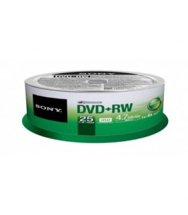 Sony 25DPR47SP - 16X DVD+R Recordable DVD Media Disc (25-Pack)