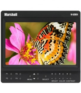 Marshall V-LCD51-SL - 5 inches Monitor Pre-Installed Sony NP-F970 Battery Adaptor