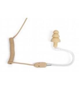 Voice Technologies VT600C/H - spiralisiertes Kabel mit 3.5 mm Mono Plug