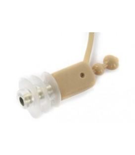 Voice Technologies VT60M - Miniatur Ohrhörer, beige, Kabel 3.5 mm Mono Plug
