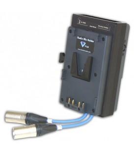 Hawkwoods VL-RM6W - Wisycom MCR42 Dual-Channel V-lok Radio Mic Holder