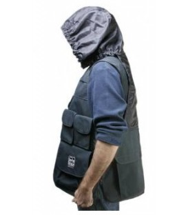 Portabrace VV-LBLH - Video Vest, Black with Hood, (L) 42 inches-46 inches