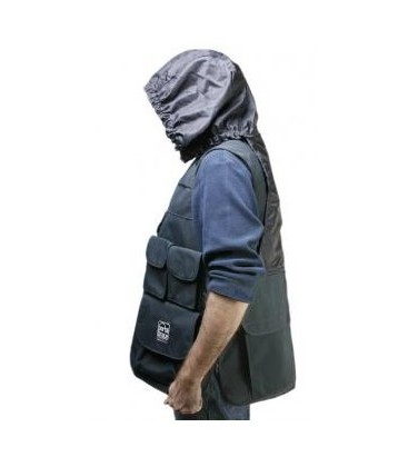 PortaBrace VV-LBLH - Video Vest, Black with Hood, (L) 42, inches-46, inches