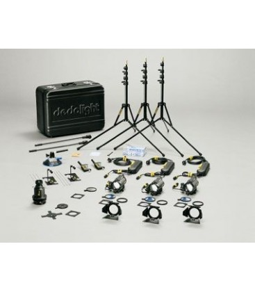 Dedolight KA24M-E - Master 3 x 24 V / 150 W (DLH4) tungsten kit