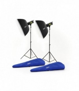 Lastolite LL LL3509RTUK - Lumen8 Kit F400 With 2 Stands & 2 Softboxes