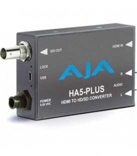 AJA HA5-Plus - HDMI to 3G-SDI with DSLR format supportI - includes 1-meter HDMI cable