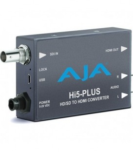 AJA Hi5-Plus - 3G-SDI to HDMI with PsF to P support - includes 1-meter HDMI cable
