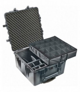 Pelicase 1640-004-110E - Transport Case with dividers, Black
