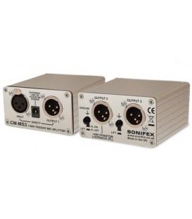 Sonifex CM-MS3 - Single 3 Way Passive Microphone Splitter