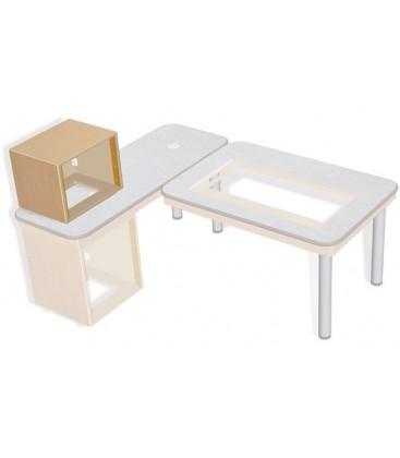 Sonifex SOL-D8 - S2 Solutions 8U Desk Top 19 inches Rack