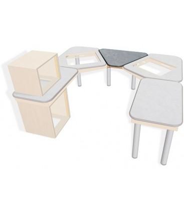 Sonifex SOL-MBC - S2 Solutions Split Desk Centre Mixer Desk Top