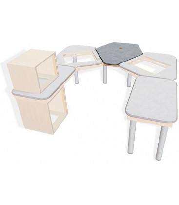 Sonifex SOL-MBCT - S2 Solutions Split Desk Centre Talks Table Mixer Desk Top