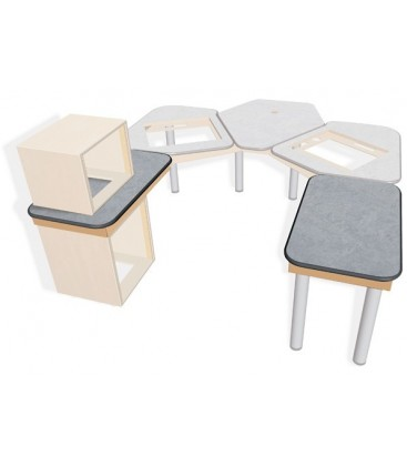 Sonifex SOL-SB1000 - S2 Solutions 1000mm (W) x 600mm (D) Side Return Desk Top