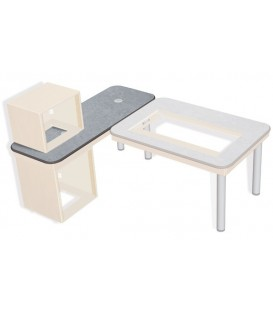 Sonifex SOL-SB1600 - S2 Solutions 1600mm (W) x 600mm (D) Side Return Desk Top
