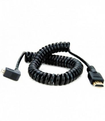 Atomos ATOMCAB013 - 1 X Coiled Right-Angle MICRO to Full HDMI Cable