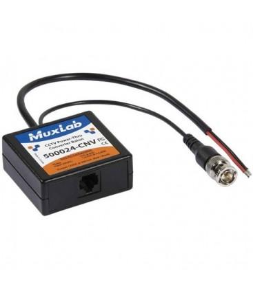 MuxLab 500024-CNV - CCTV Power-Thru Converter Balun (24VAC-To-12VDC)