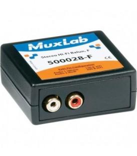 MuxLab MU500028-F - Stereo Hi-Fi Balun, F