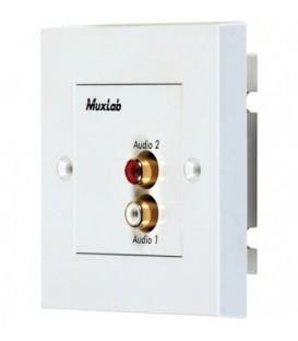 MuxLab MU500028-WP-UK - Stereo Hi-Fi Wall Plate Balun, UK