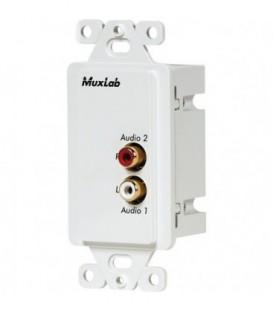 MuxLab MU500028-WP-US - Stereo Hi-Fi Wall Plate Balun, US