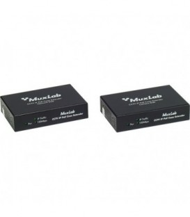 MuxLab MU500112 - LongReach CCTV IP PoE Extender Kit, 15W
