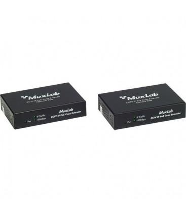 MuxLab 500112 - LongReach CCTV IP PoE Extender Kit, 15W