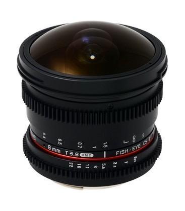 Samyang F1322410101 - 8mm T3.8 CSII VDSLR II Fuji X