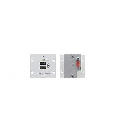 Kramer W-2UC(B) - Wall Plate Insert - Dual USB Charger - black