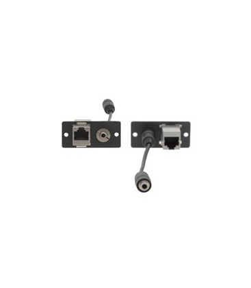 Kramer WA-45(B) - Wall Plate Insert - 3.5mm Stereo Audio & RJ-45 - Black