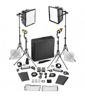 Dedolight SLED2x2-BI-B-E - 4 Light Kit - Bicolor AC