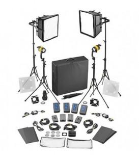 Dedolight SLED2x2-BI-BAT-E - 4 Light Kit - Bicolor DC