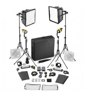 Dedolight SLED2x2-D-B-E - 4 Light Kit - Daylight AC