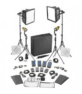 Dedolight SLED2x2-D-BAT-E - 4 Light Kit - Daylight DC