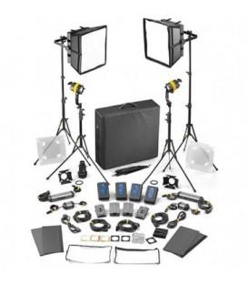 Dedolight SLED2x2-D-M-E - 4 Light Kit - Daylight AC/DC