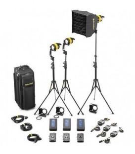 Dedolight SLED3-BI-BAT-E - 3 Light DLED Battery Kit - Bicolor
