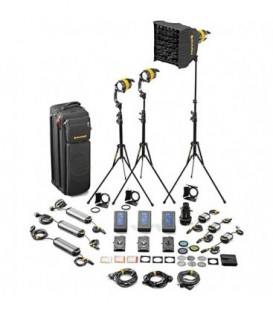 Dedolight SLED3-D-M-E - 3 Light DLED Kit - Daylight