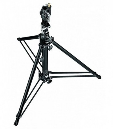Manfrotto 070BU - Follow Spot Stand with Leveling Leg (Black, 4.8')