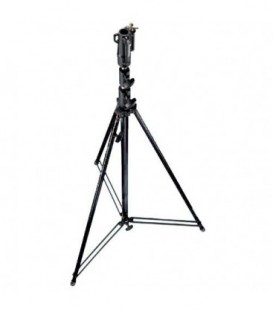 Manfrotto 111BSU - Tall Steel Cine Stand with Leveling Leg, Black, (3.6m)