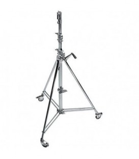 Manfrotto MA B6039CS - Wind-Up 39 Stand with Braked Wheels (Chrome-plated, 12 feet)