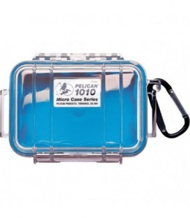 Pelicase 1010-026-100E - MicroCase Clear Case with Blue Liner