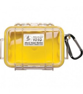 Pelicase 1010-027-100E - MicroCase Clear Case with Yellow Liner