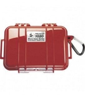 Pelicase 1020-025-170E - MicroCase Solid Red with Black Liner