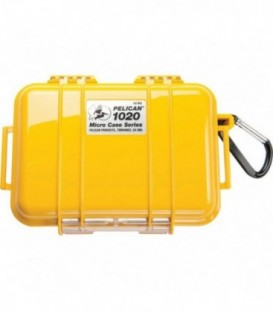 Pelicase 1020-025-240E - MicroCase Solid Yellow with Black Liner