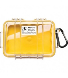 Pelicase 1020-027-100E - MicroCase Clear Case with Yellow Liner