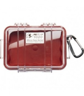 Pelicase 1020-028-100E - MicroCase Clear Case with Red Liner