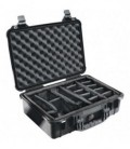 Pelicase 1500-004-110E - Protector case black with divider for 1500 Cases