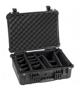 Pelicase 1520-004-110E - Protector case with divider, black