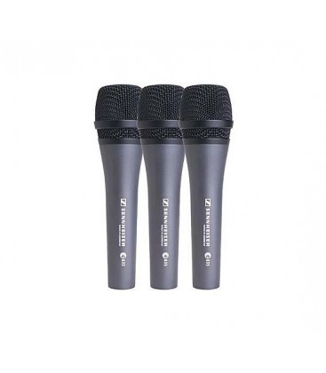 Sennheiser 3-PACK-e835-S - 3x Handheld Dynamic Microphone with Switch